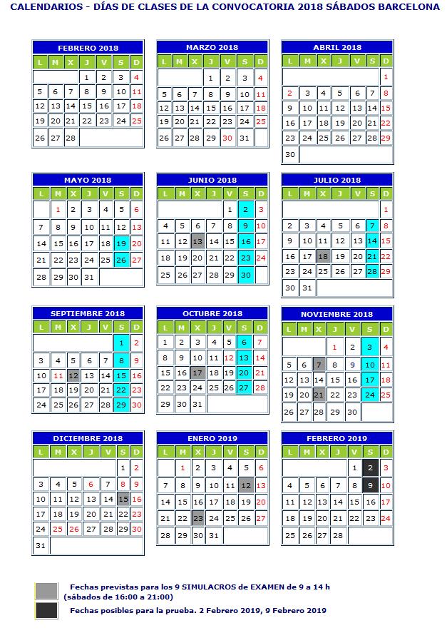 calendario-sabados-barcelona