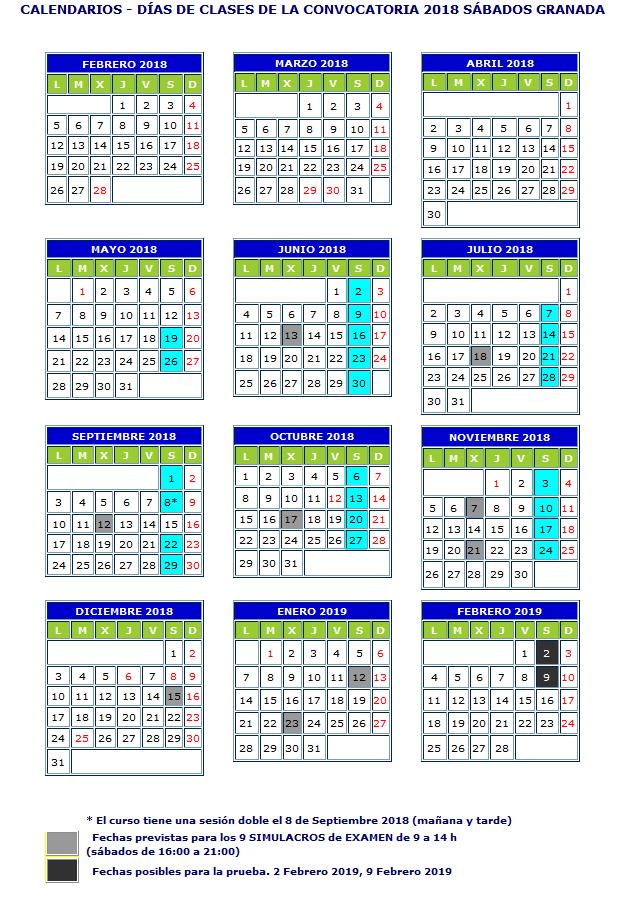 calendario-sabados-granada